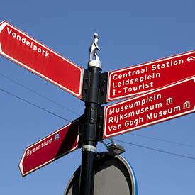 Route Fietskoerier Amsterdam